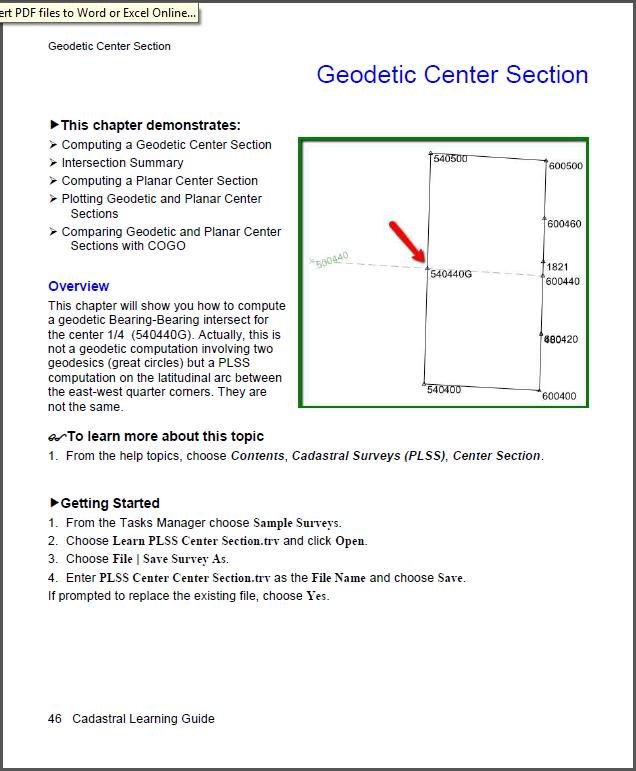 Cadastral Geodetic Center
