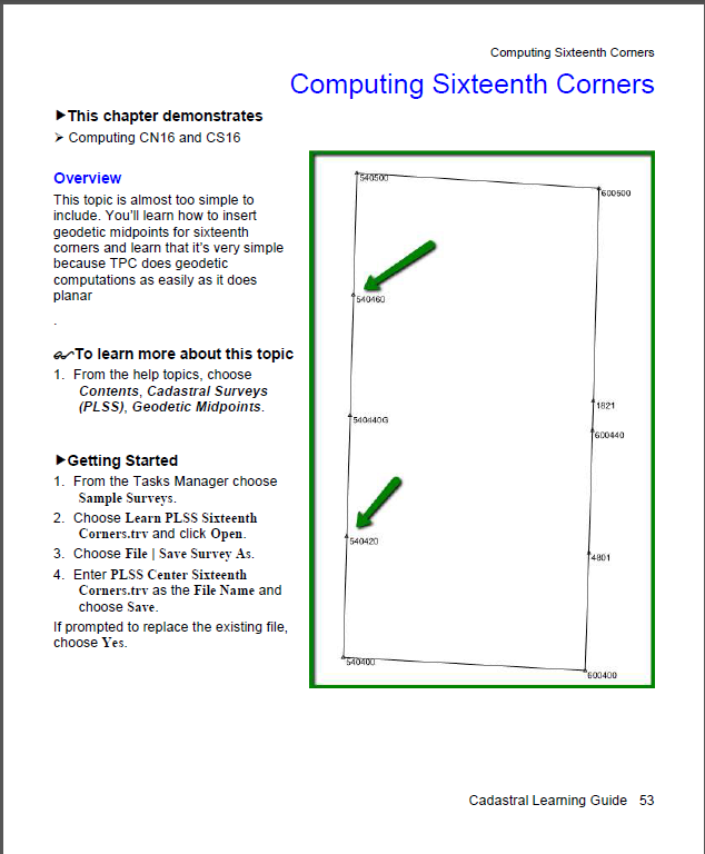 Cadastrl Computing Sixteenths