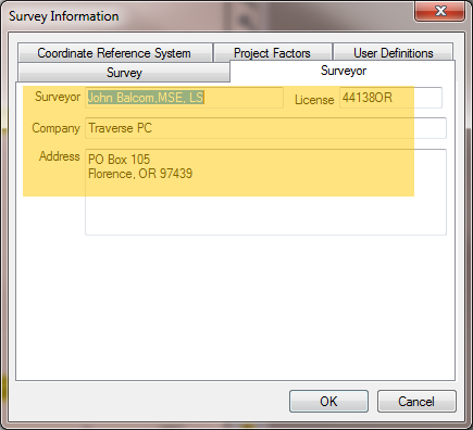 Surveyor Dialog For Variables