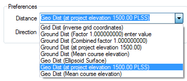 Distance Types - Geodesy/Geodetics, Traverse PC Land Surveying Software, Land Survey Software, Land Surveyor Software, COGO software, CAD Software, Drawing Software, Map Software, Mapping Software, Cadastral Software, PLSS, GIS Software, Construction Software