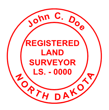 Sample North Dakota Stamp