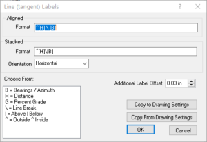 Format Tangent Labels