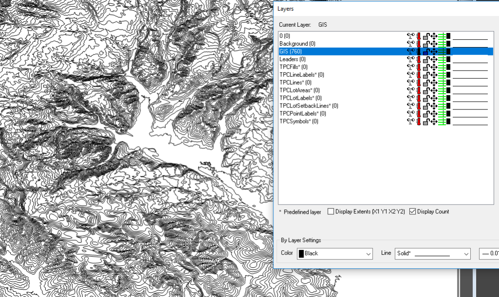 Import GIS Onto Current Layer