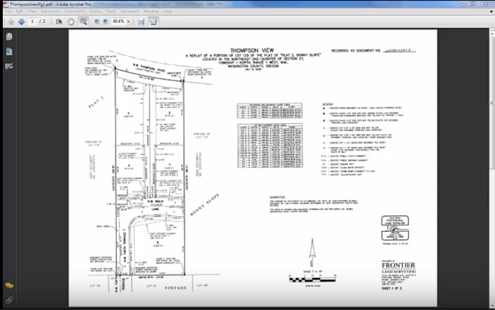 CAD Drawing for Plat Checking