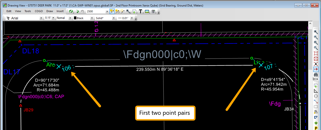 Calibrate Xref First Two Point Pairs