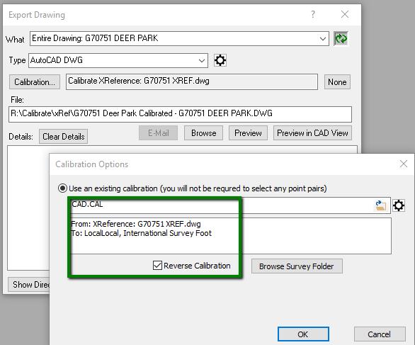 Export Reverse Calibrated CAD