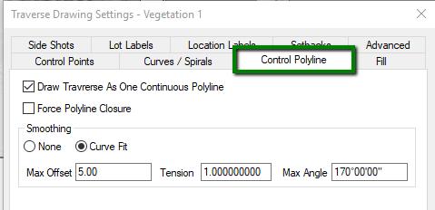 Control Polyline Tab