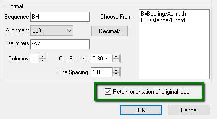 Retain Orientation Of Original Label