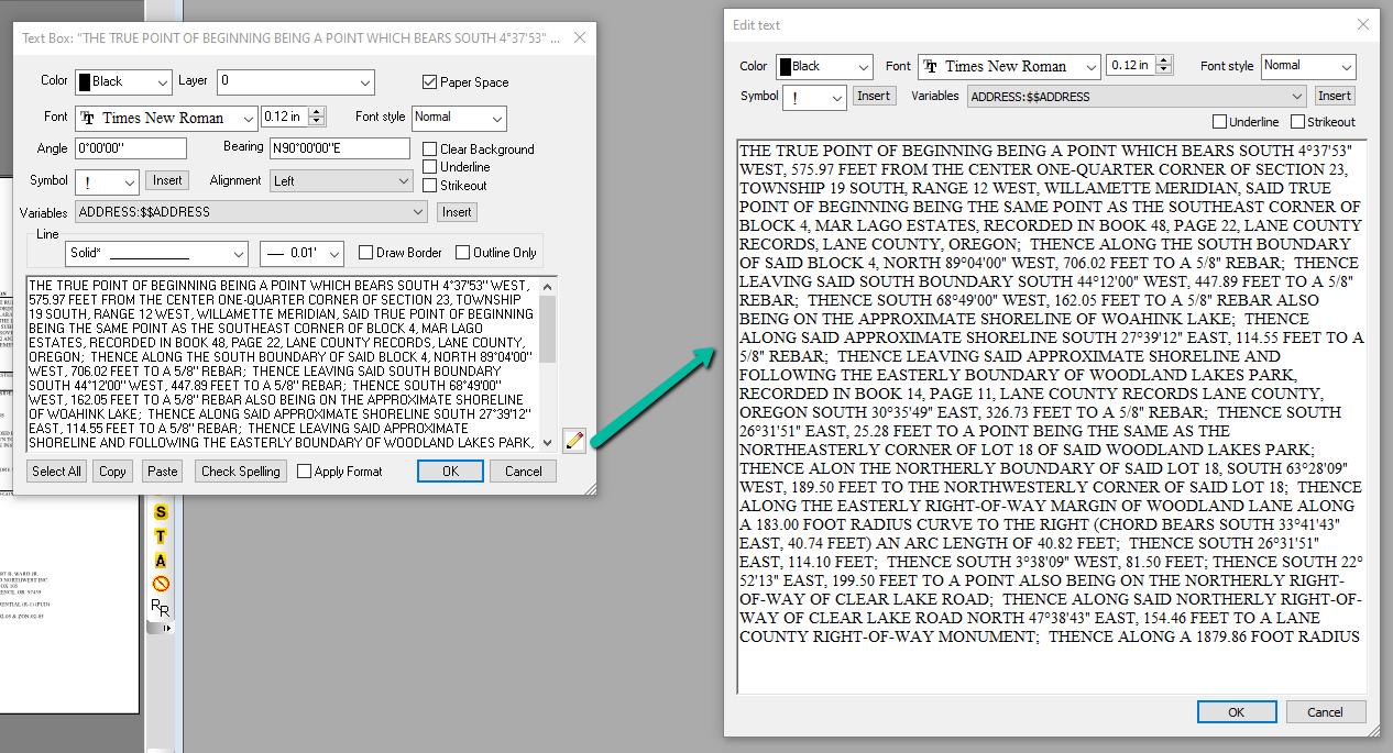 Text Edit Window